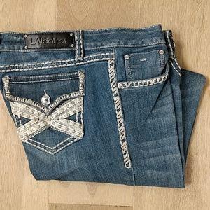 L-A Idol Bootcut Jeans w37 L34 sz 15